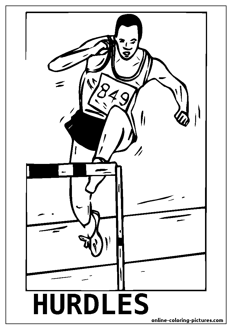 hurdles coloring picture