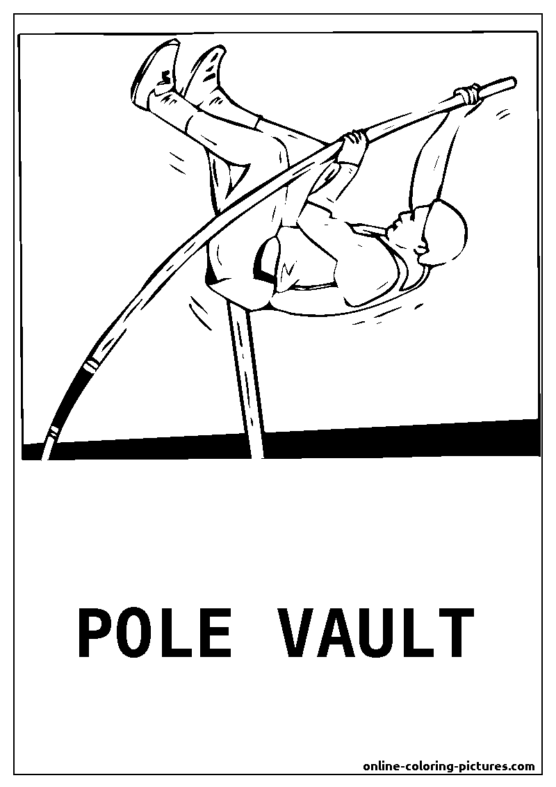 pole vault coloring picture