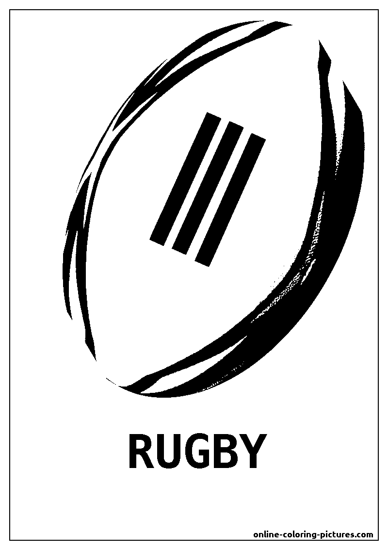 rugby ball coloring picture