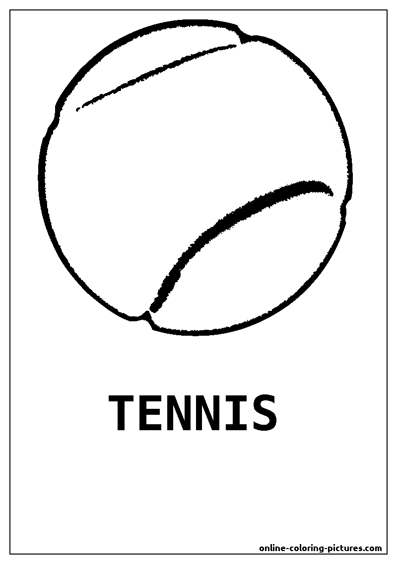 tennis ball coloring picture