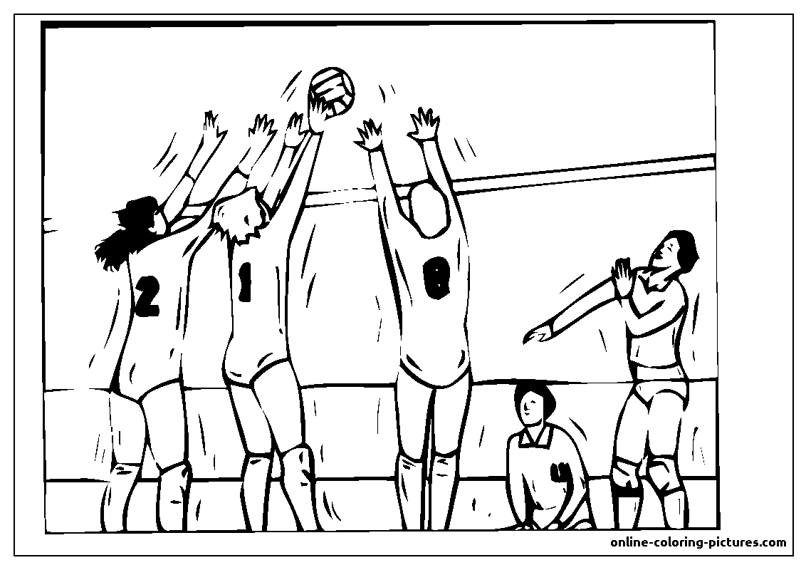 volleyball ball coloring picture