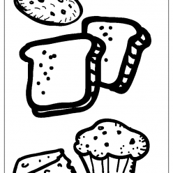 bakery coloring picture