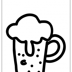 beer coloring picture