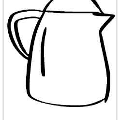 carafe coloring picture