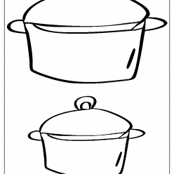 casserole coloring picture