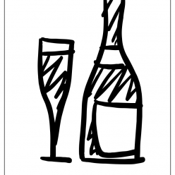 champagne coloring picture