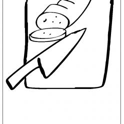 chopping board coloring picture