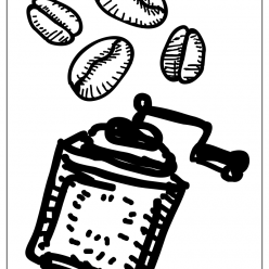 coffee grinder coloring picture