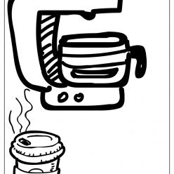 coffeemaker coloring picture