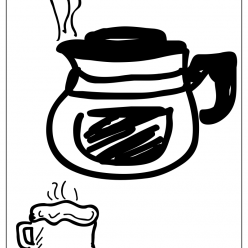 coffeepot coloring picture