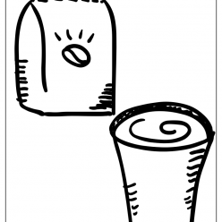 cold coffee coloring picture