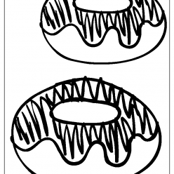donuts coloring picture