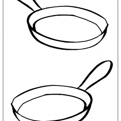 frying pan coloring picture