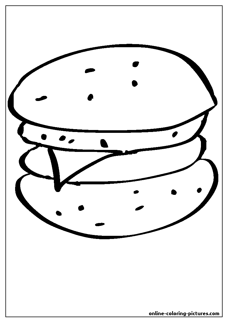 hamburger coloring picture
