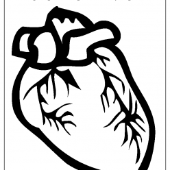 heart coloring picture