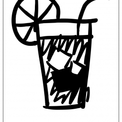 iced tea coloring picture