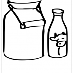 milk coloring picture