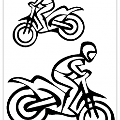 motorbike coloring picture
