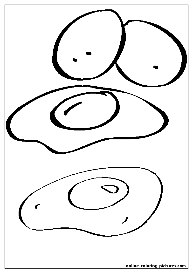 omlette coloring picture
