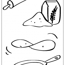 pancake coloring picture