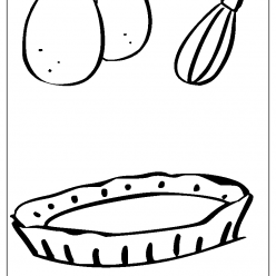 pie coloring picture
