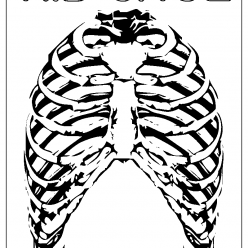 ribcage coloring picture