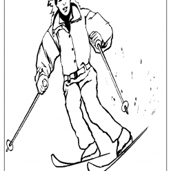 skiing coloring picture