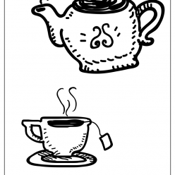 tea coloring picture