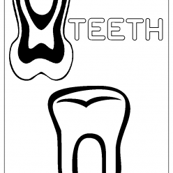teeth coloring picture