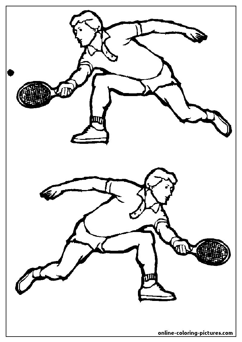 tennis coloring picture
