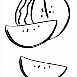 watermelon coloring picture