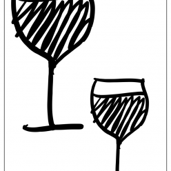 wine coloring picture
