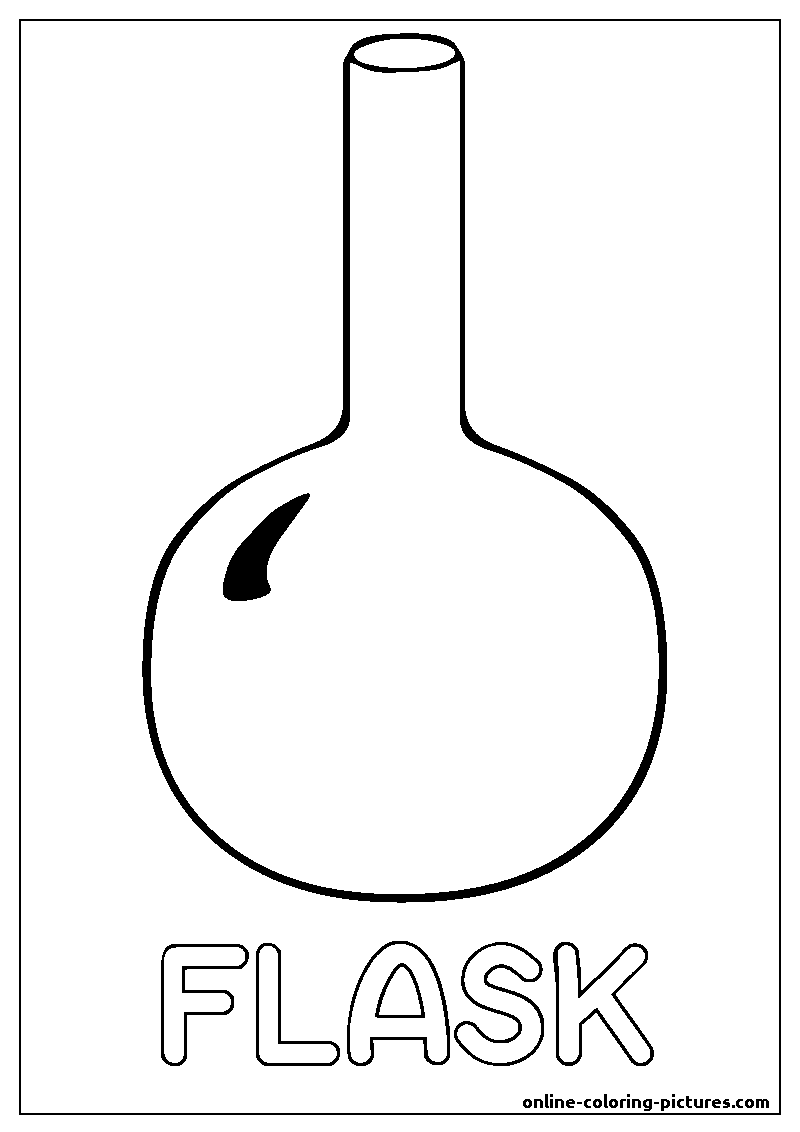 flask coloring picture