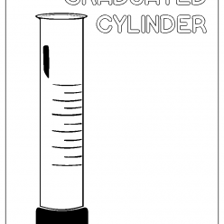 graduated cylinder coloring picture