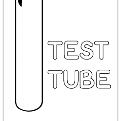 test tube coloring picture