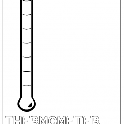 thermometer coloring picture