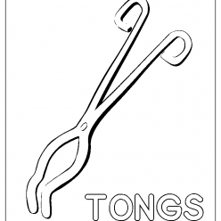 tongs coloring picture