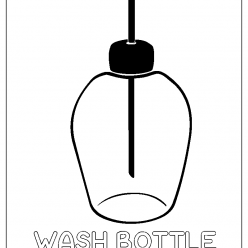 wash bottle coloring picture